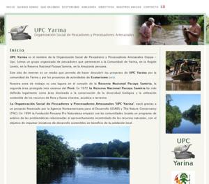 Le site de l'UPC Yarina