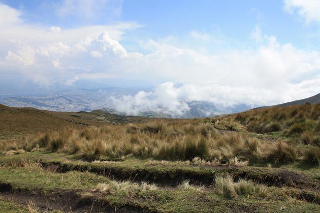 Vue de la ville de Quito, depuis les flans du Pichincha
